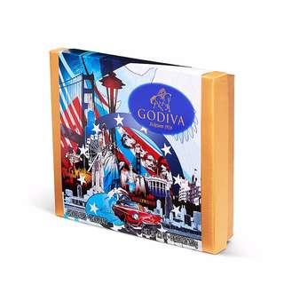 GODIVA歌帝梵美國什錦巧克力紀念禮盒(19入)