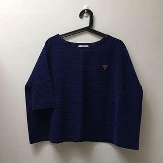 Starmimi 紫色立體條紋上衣