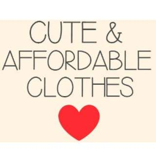 CUTE AFFORDABLE CLOTHING