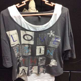 F21 Cropped top with inner
