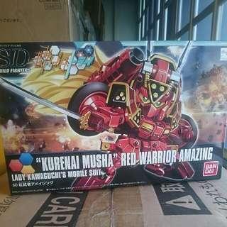 Gunpla 1/144 HG Kurenai Musha Amazing Red Warrior SD BB Gundam by Bandai Unbuilt & New #00010