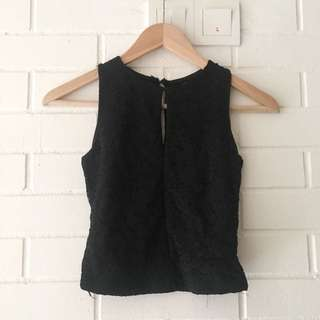 Sheet back crop top
