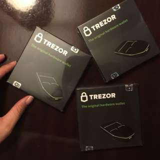 Brand New and Sealed Trezor Bitcoin Wallet