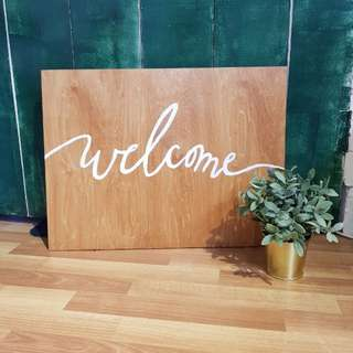 Purchase - Rustic Wooden Welcome Sign