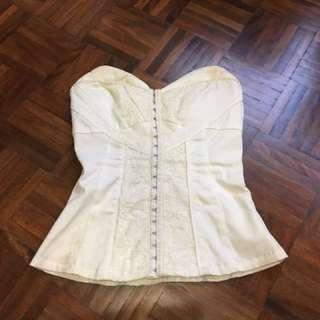 White corset top size 6