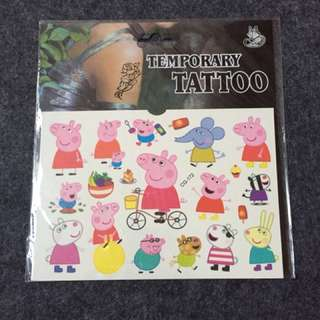 Peppa Pig Temporary Tattoo