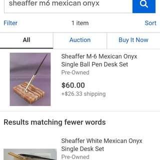 Vintage Sheaffer M6 Mexican Onyx Desk Set