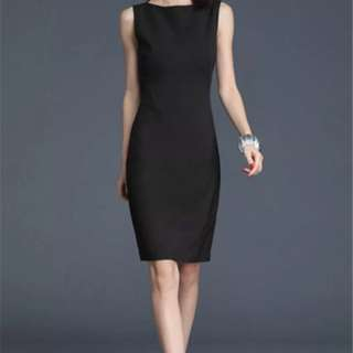 Women office business dress black