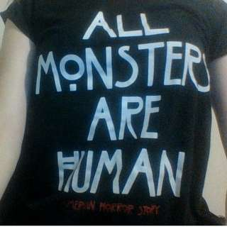 AHS american horror story all monster are human top shirt