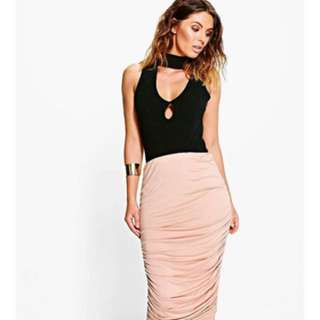 COTTON ON Luxe Rouched Midi Skirt