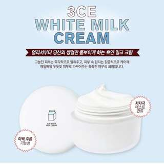 3CE White Milk Cream