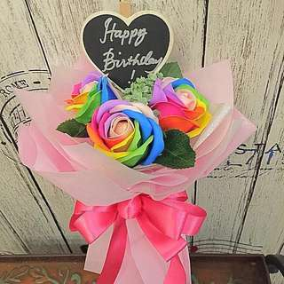 Bouquet-Scented rainbow rose