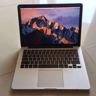 "Macbook Pro Retina 13"" 2012 128GB SSD 8GB RAM murah"
