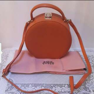 Katie Judith Orange Color Three-Way Bag