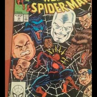 Web if Spider-Man comic book