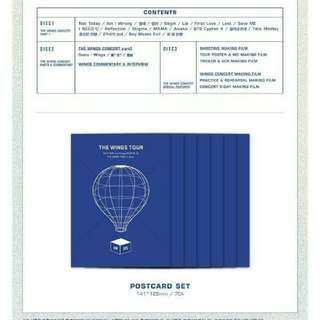 (LOOSE) BTS WINGS TOUR IN SEOUL POSTCARDS FROM BLURAY VER