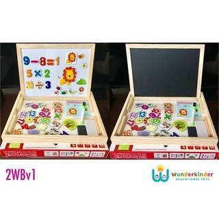 2-sided Learning Writing Board w/ Magnetic Puzzle & Numbers