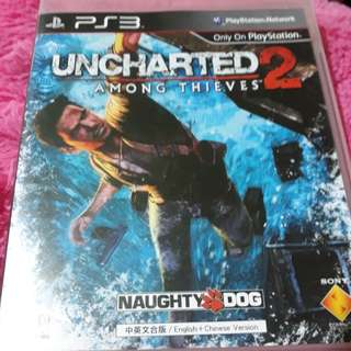 Uncharted 2 PS3 game cd