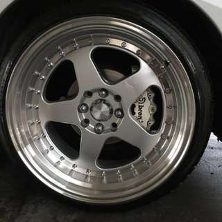 """17"""" Rotiform copy stance rims (almost new)"""
