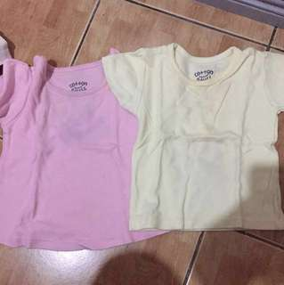 REPRICING!!! 2 for 80!!! Cotton stuff (has a bit of stain but can still be removed thru washing)