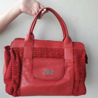 (Turun Harga!) Preloved Authentic Dowa Bag Nottingham Rocket Red