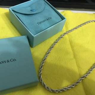 TIffany 雙色麻花項鍊 18K金.925純銀.已絕版了