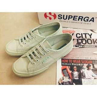 SUPERGA 2750 Mint義大利時尚帆布鞋薄荷綠經典素面款 #幫你省運費