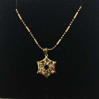 18K Gold Plated Pendant and Necklace