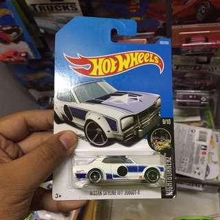 Hot Wheels Nissan Skyline 2000 H/T 2000GT-X Hakosuka Hako Hotwheels