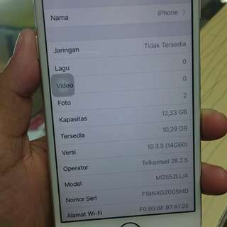Iphone 6 16gb silver ex inter