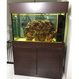 4ft Fish Tank with Cabinet and Bio-Filter Sump Tank