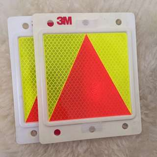 3M Triangle Probation Plate for fresh drivers