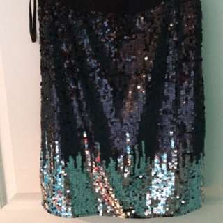 Sequence ombré skirt. Very stretchy. Size XS