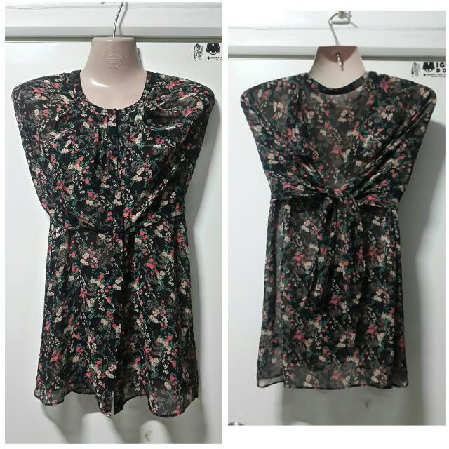 2 In 1 Blouse And Sleeveless