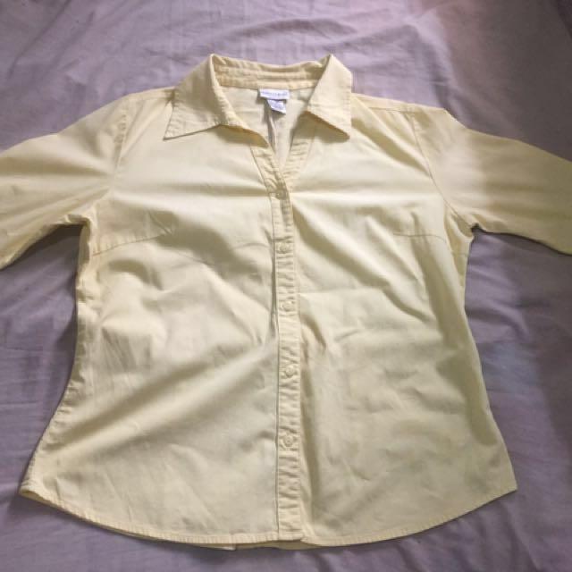 3/4 yellow blouse
