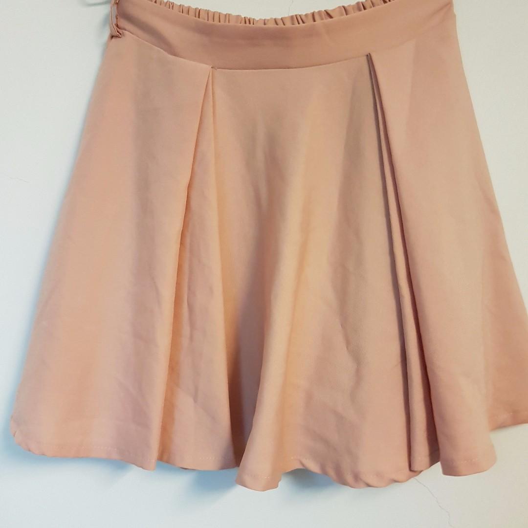 粉橘色褲裙