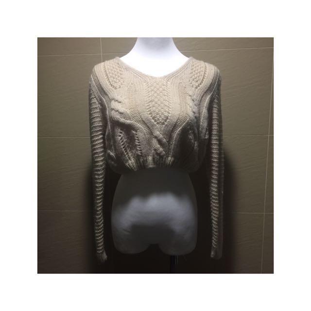【二手私服】米色小毛衣