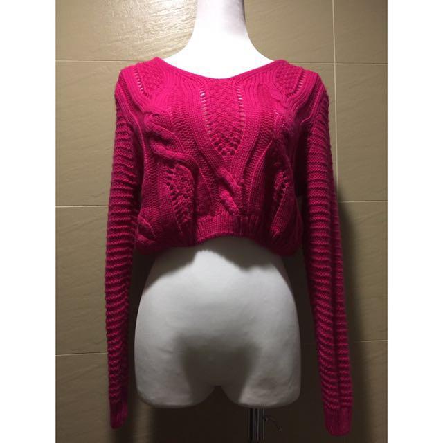 【二手私服】粉色小毛衣