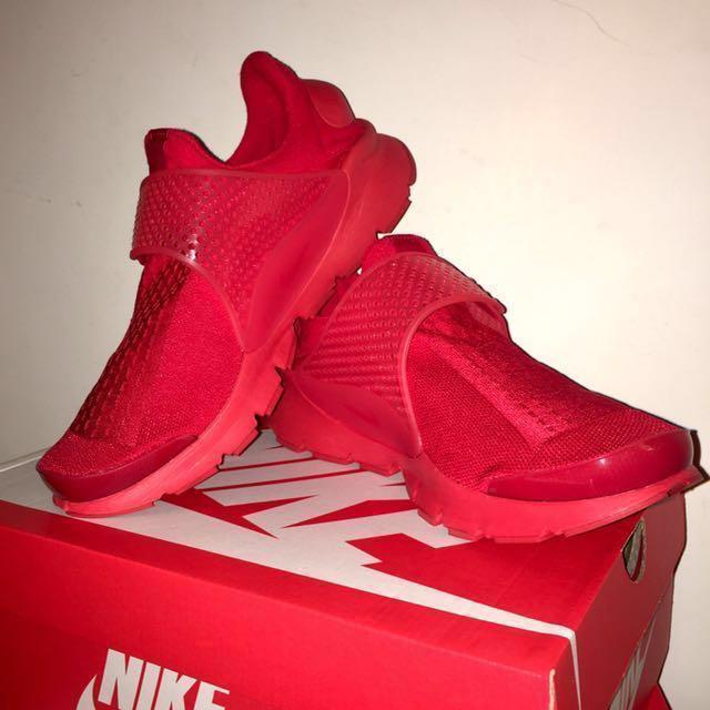 出清降價!全新 Nike Sock Dart Kjcrd Red 正品 全紅 公司貨