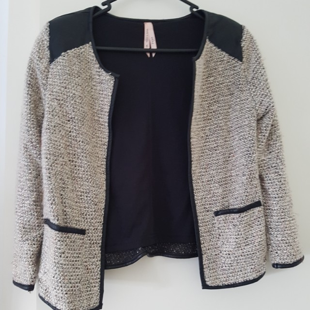 Ally Crop tweed cardigan - size 6