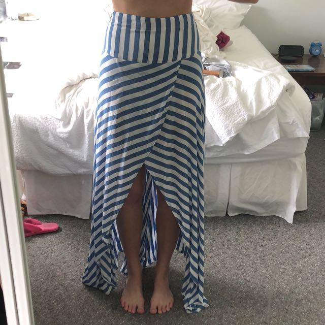 Auguste shirred maxi skirt