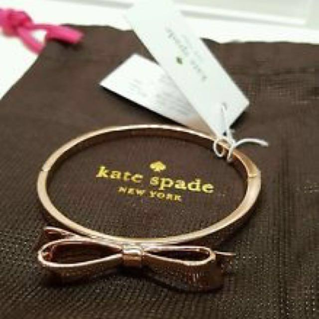 Authentic gold colour Kate Spade bracelet