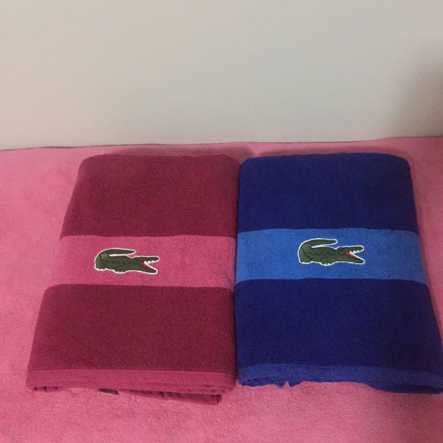 Authentic Lacoste Towel