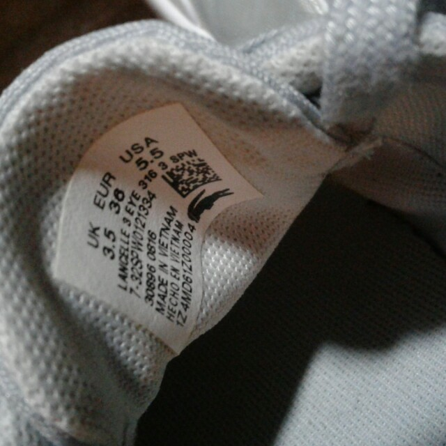 Authentic Light Gray Lacoste Sneakers