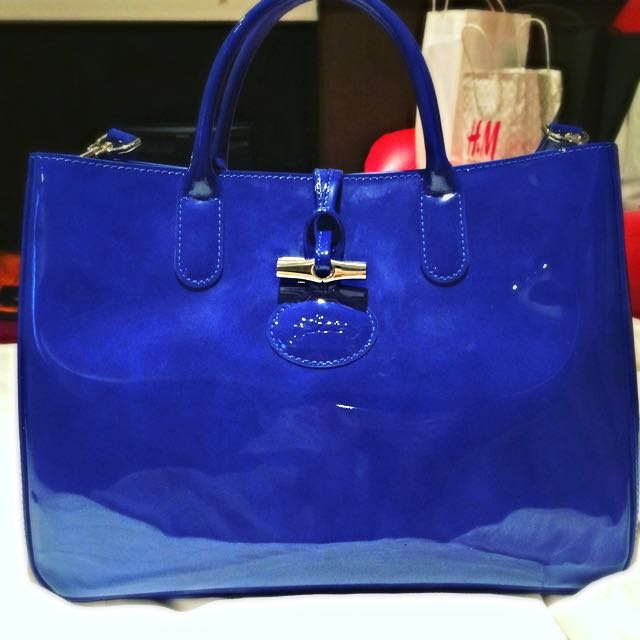 Authentic Longchamp Roseau Shoulder Tote Blue, Women s Fashion, Bags    Wallets on Carousell 68f6e65074