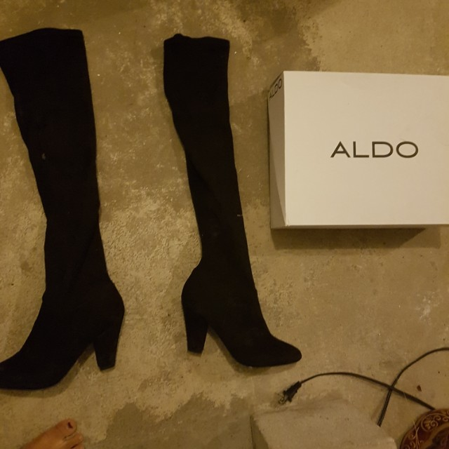 Black over the knee boots size 8
