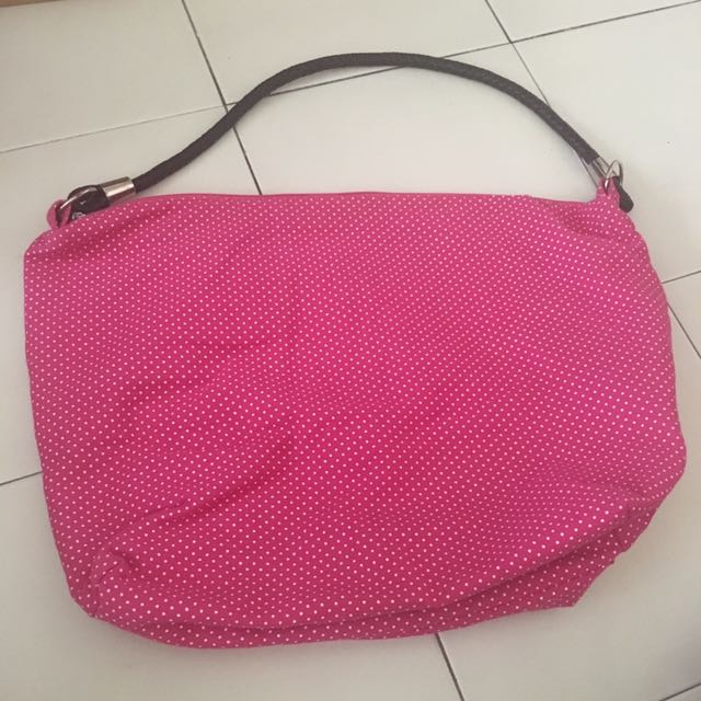 BN Pink polka dot bag
