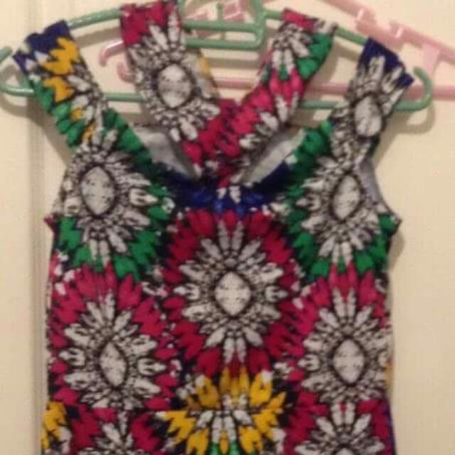 Brand new dress (waist 27in length 29in shoulder width 18in slit 6in)