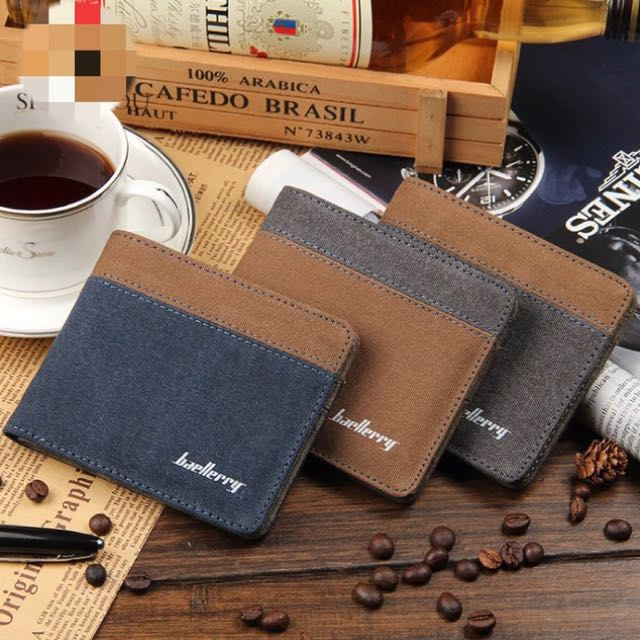 Canvas 2-Color Tone Quality Men's Wallet & Card holder