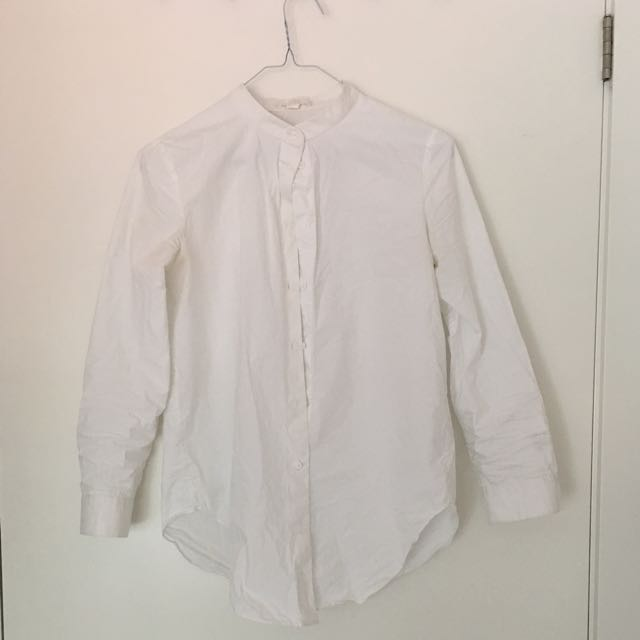 Cos Collarless Blouse